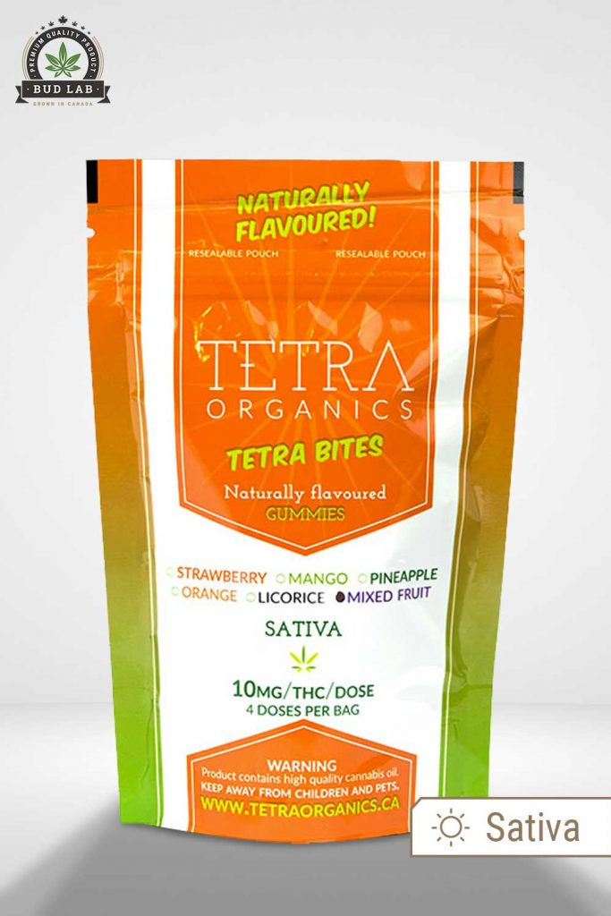 Tetra Organics Sativa Weed Gummies BudLab display image