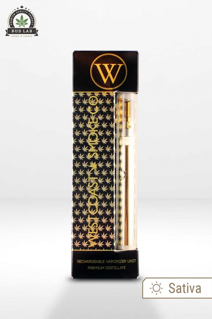 West Coast Smoke Gold Digger Vape Pen Packaging