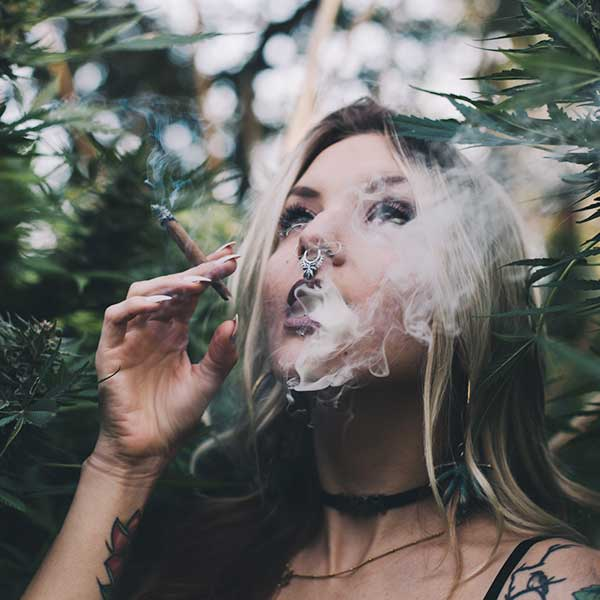 Bud Lab Blunt Smoke, Woman with Nose Ring Banner