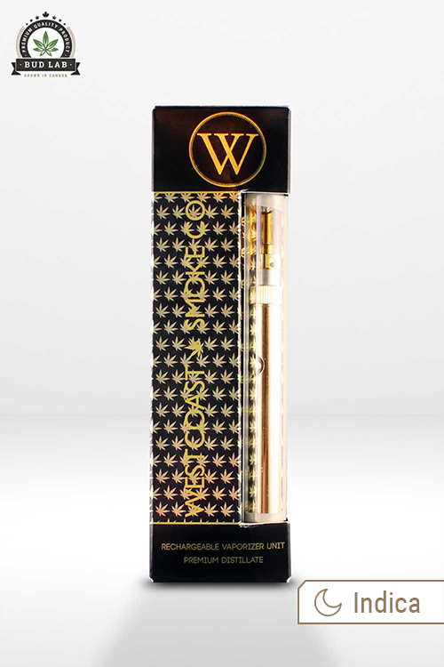 The Westcoast Smoke Co Gold Digger Indica Vape Pen Kit BudLab Front