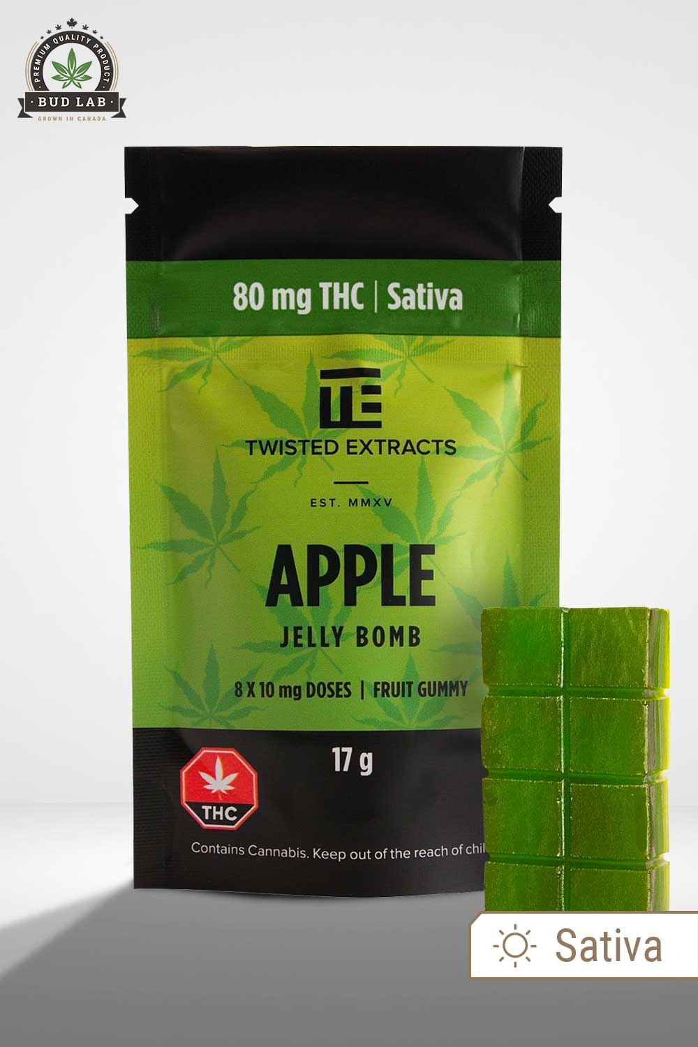Twisted Extracts Sativa Apple THC Jelly Bomb
