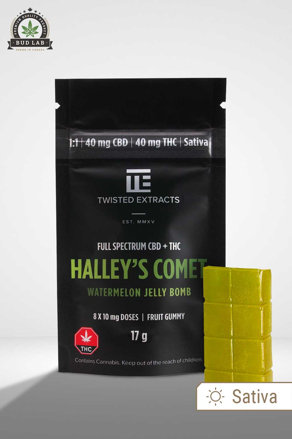 Twisted Extracts Halley's Comet CBD THC Jelly Bomb