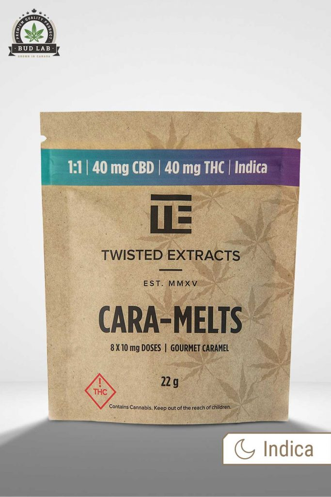 Twisted Extracts Caramelts Gourmet Caramel BudLab, front view
