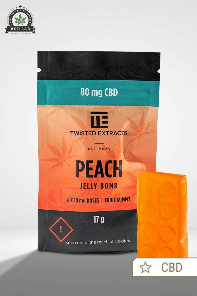 Jelly Bomb Peach Twisted Extracts BudLab, Front