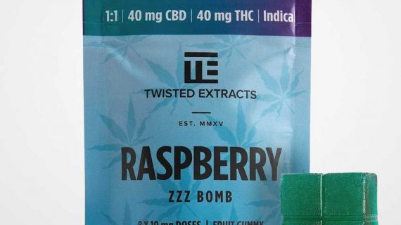Twisted Extracts CBD Raspberry Jelly Bomb