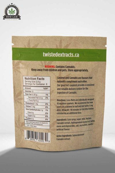 Sativa Caramelt Twisted Extracts BudLab, Back view