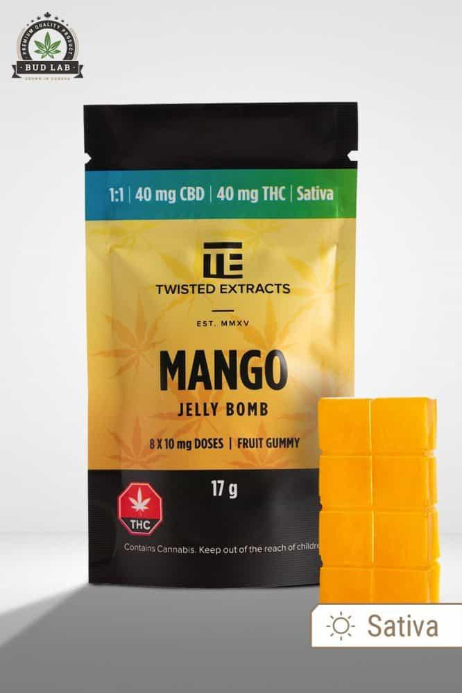 Twisted Extracts Sativa Mango CBD Jelly Bomb