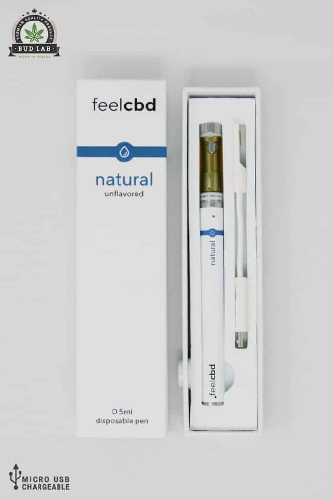 BudLab FeelCBD Natural Unflavored, Open View
