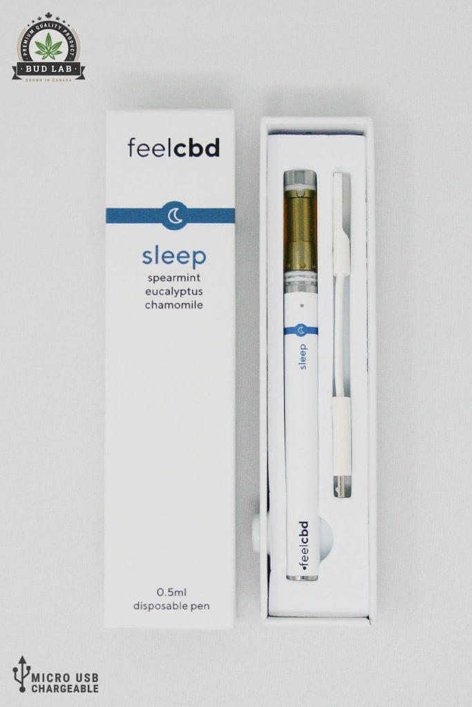 BudLab FeelCBD Sleep Spearmint, Open View
