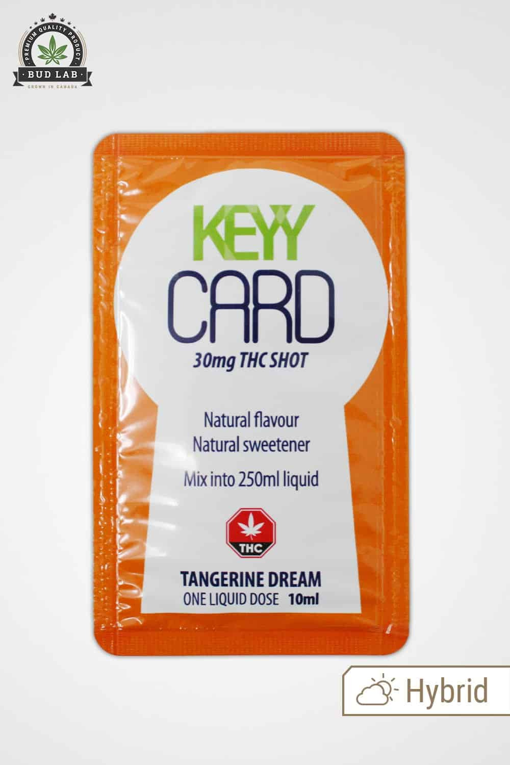 Keyy Card THC Tangerine Dream BudLab, Front of Package