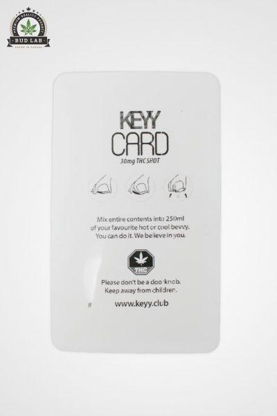 Keyy Card THC Tangerine Dream BudLab, Back of Package
