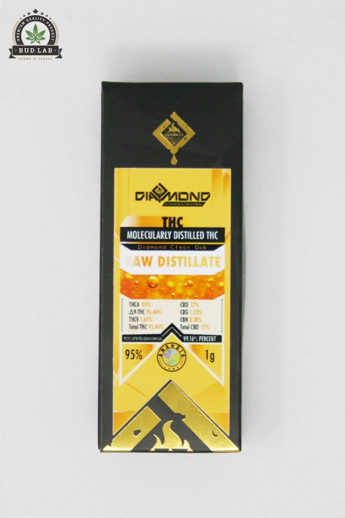Bud Lab Diamond Concentrates Raw Distillate, Package View
