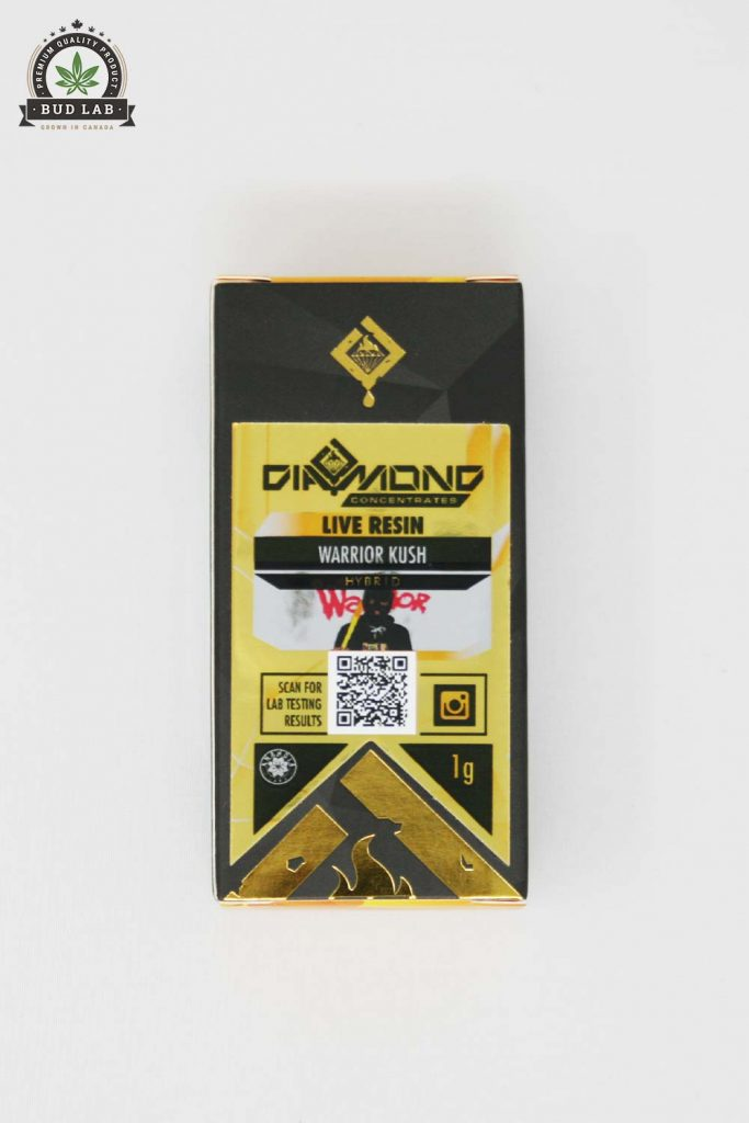 Bud Lab Diamond Concentrates Warrior Kush, Product Package