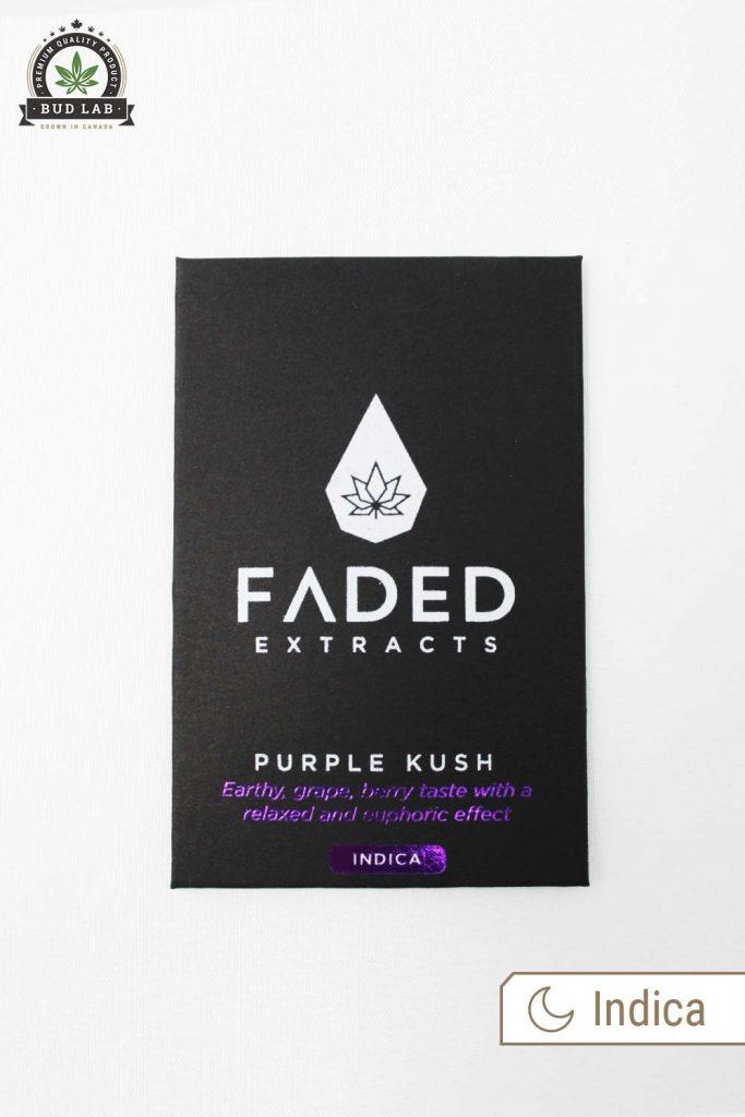 Bud Lab Faded Cannabis Purple Kush, Product Package