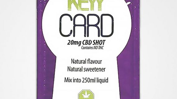 Bud Lab Keyy Card CBD Grape Front View