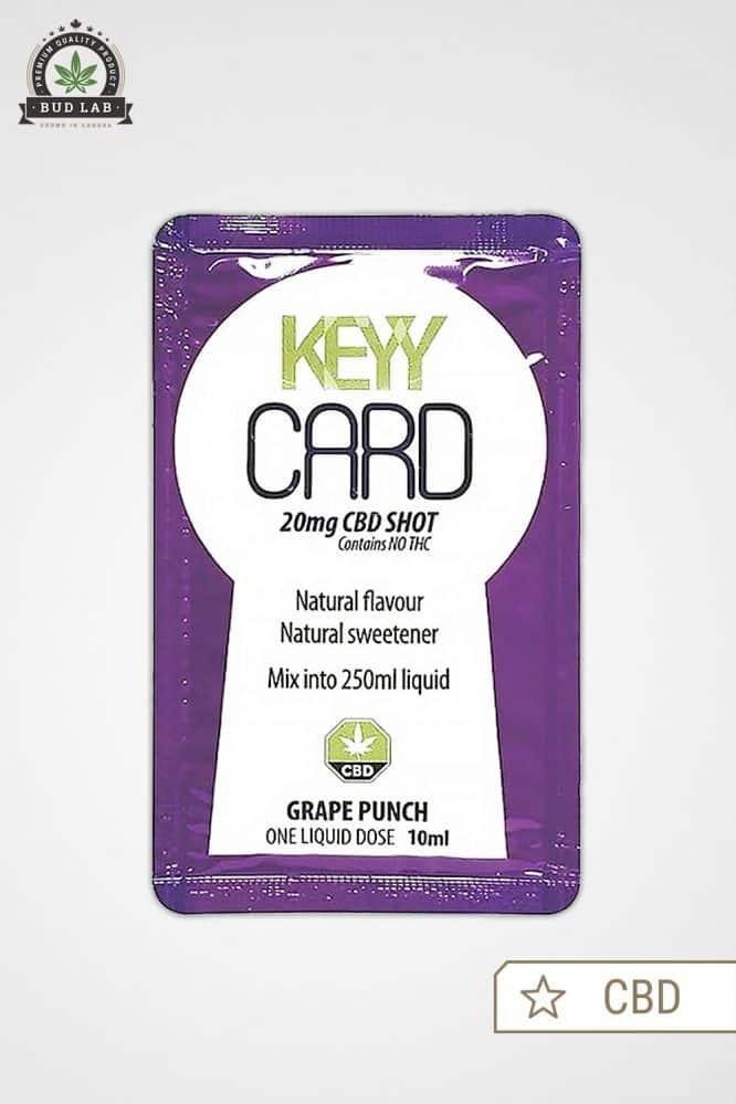 Bud Lab Keyy Card CBD Grape Front View