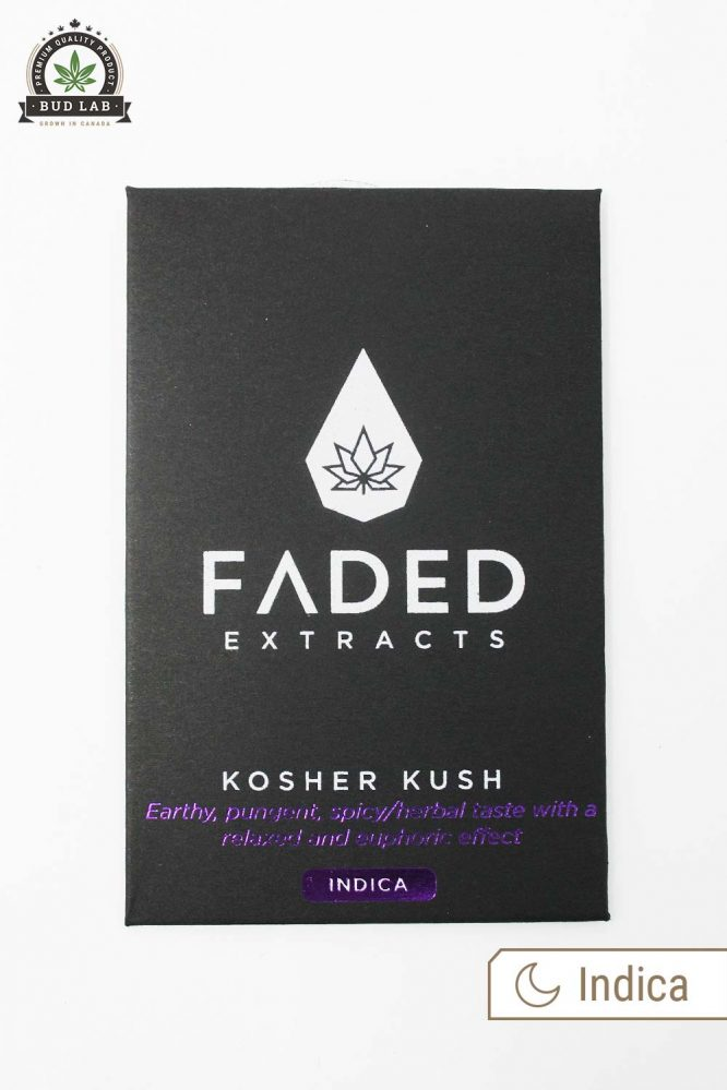 Bud Lab Faded Extracts Kosher Kush Package