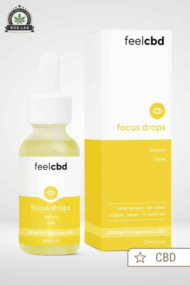 Bud Lab Feel CBD Focus Drops Packaging - Lemon