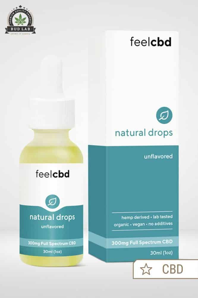 Bud Lab Feel CBD Natural Drops Packaging - Unflavored