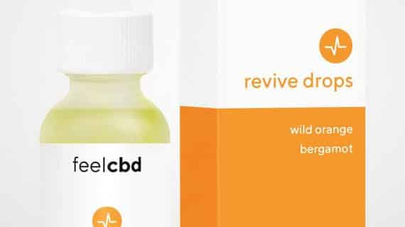Bud Lab Feel CBD Revive Drops Packaging - Wild Orange