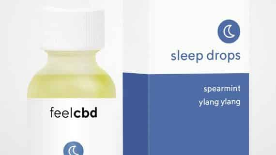 Bud Lab FeelCBD Sleep Drops Packaging, Spearmint