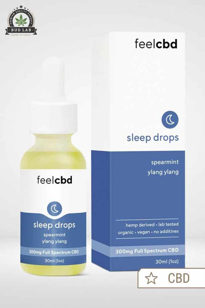 Bud Lab FeelCBD Sleep Drops Packaging, Spearmint