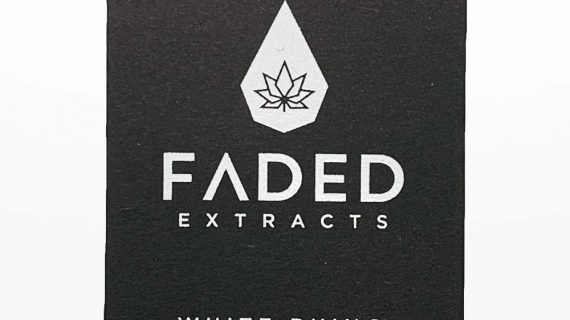 Faded Extracts White Rhino Front of Package