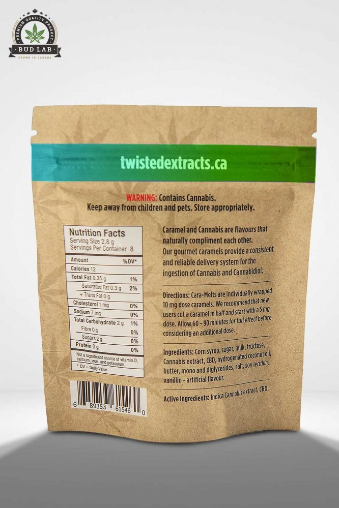 Bud Lab Twisted Extracts 1:1 Caramelts Package Back