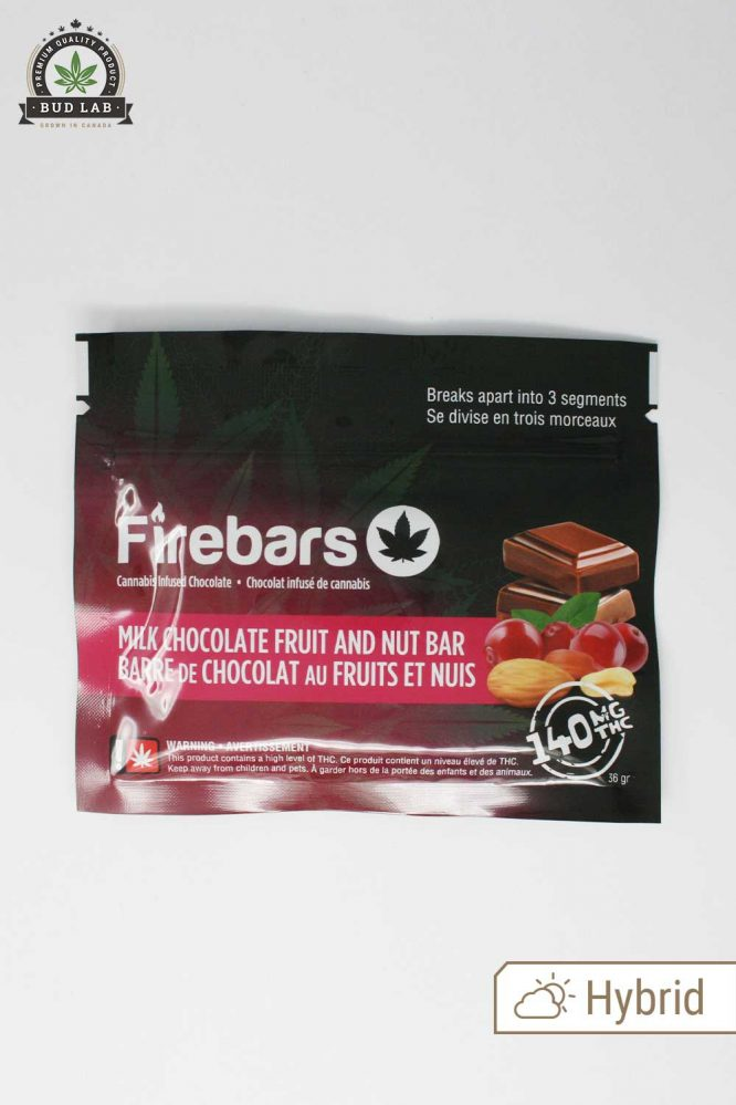 Firebars Milk Chocolate Fruit and Nut Bar Hybrid