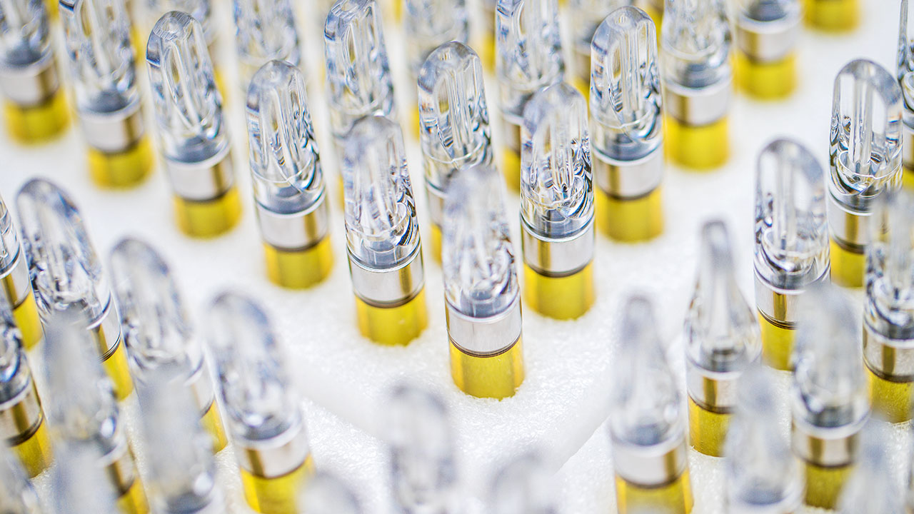 Vape Cartridges Lined Up