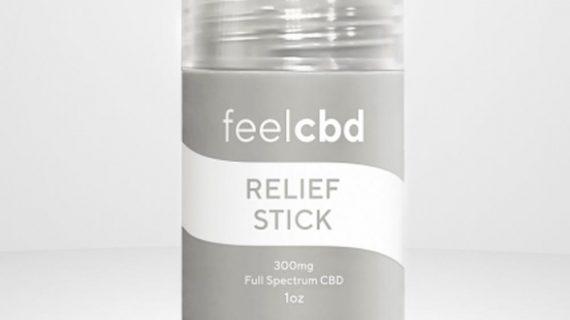 Feel CBD Relief Stick, Front Profile