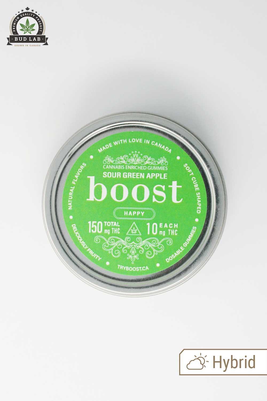 Boost Edibles, Sour Green Apple Hybrid Gummies