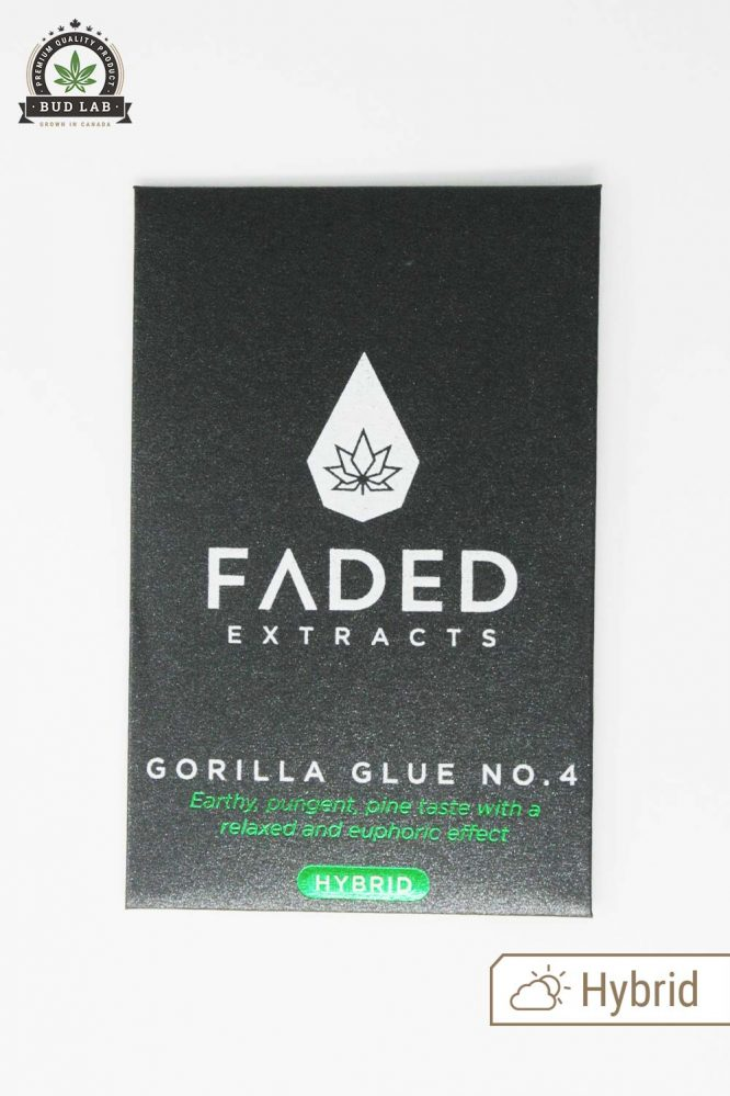 Gorilla Glue #4 Shatter, Faded Extracts Packaging