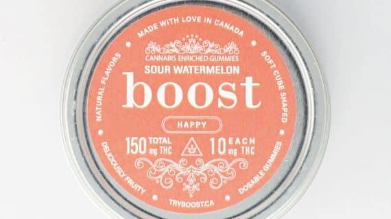 Boost Edibles Sour Watermellon THC Gummies