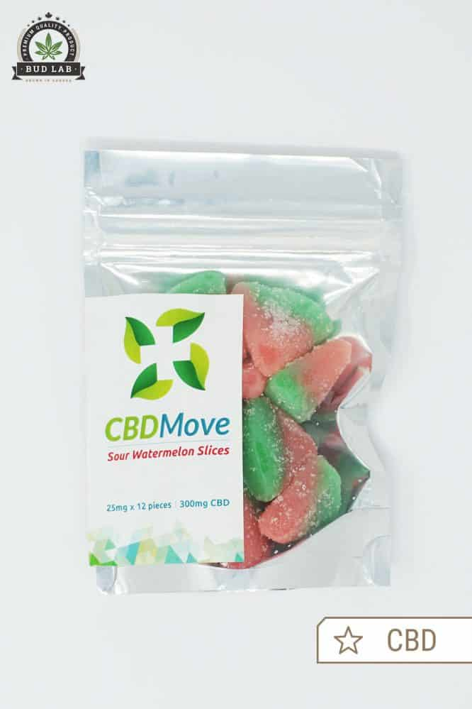CBDMove Sour Watermelon Gummies CBD