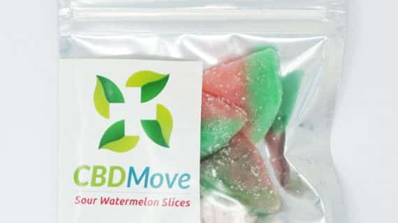CBDMove Sour Watermelon Gummies 100mg CBD