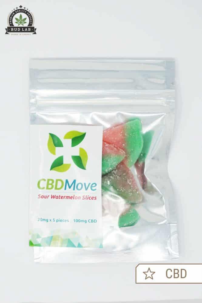 CBDMove Sour Watermelon Gummies 100mg CBD