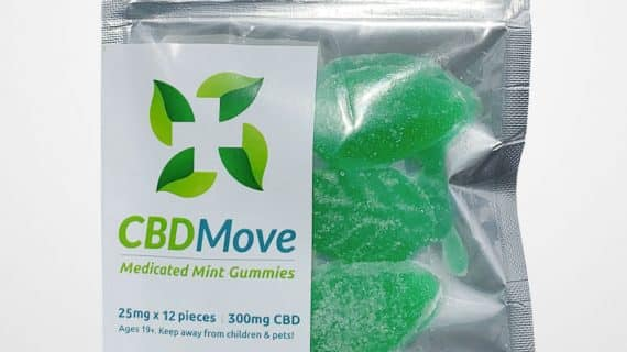 CBDMove Mint CBD Gummies 25mg