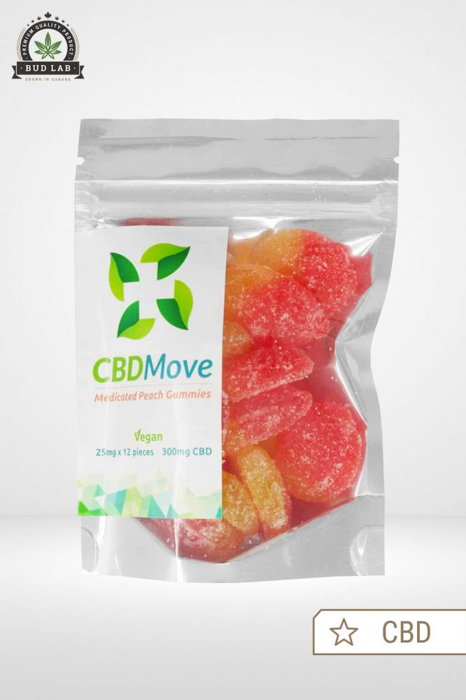 CBDMove Peach CBD Gummies 20mg