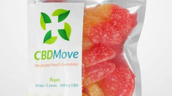 CBDMove Peach CBD Gummies 25mg