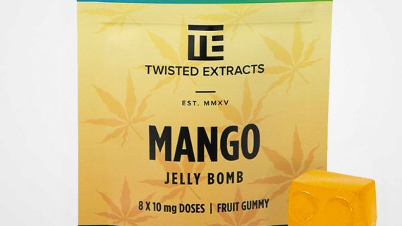 Twisted Extracts THC/CBD Mango Jelly Bomb