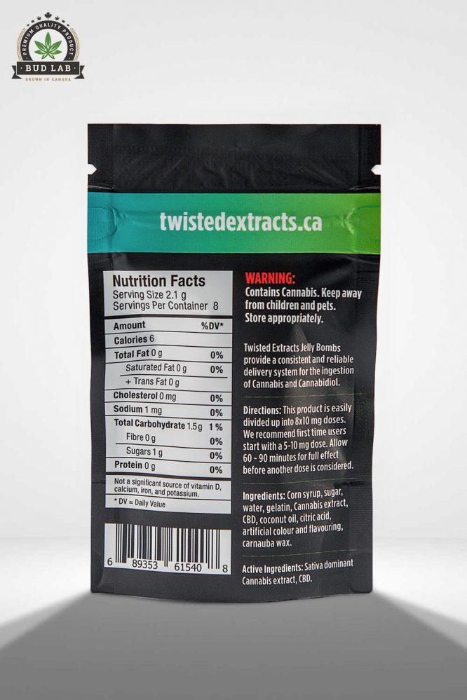 Twisted Extracts THC/CBD Mango Jelly Bomb 2