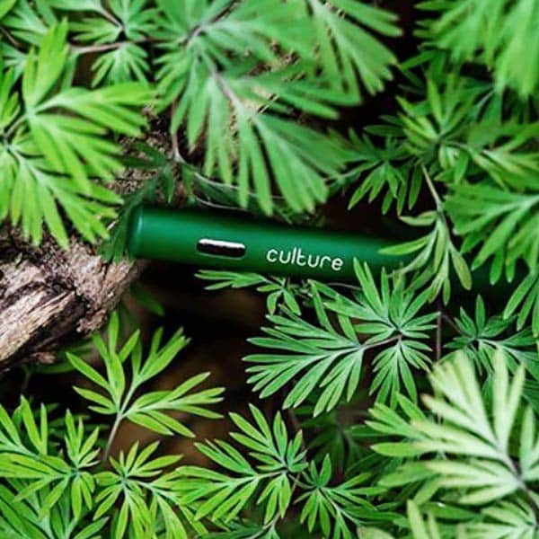 Culture Vape Pen In Marijuana Leaves