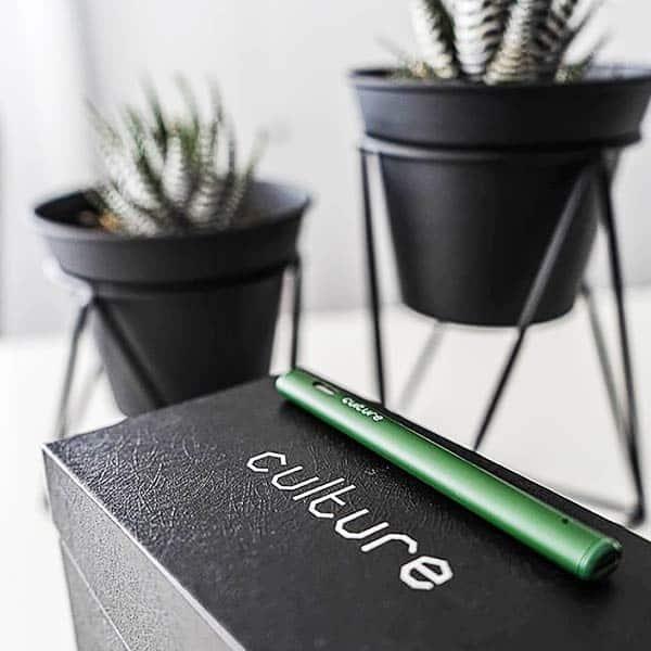Culture Vape Pen Resting On Box