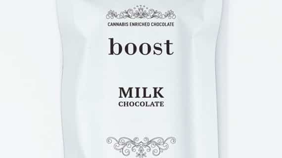 Boost Edibles CBD Milk Chocolate Bar Front