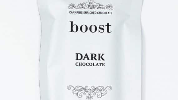 Boost Edibles THC Dark Chocolate Bar Front