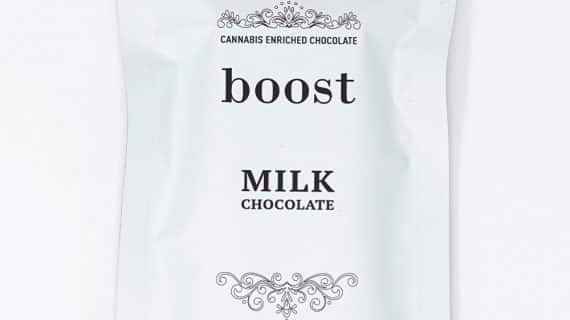 Boost Edibles THC Milk Chocolate Bar Front