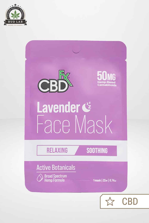 CBDfx CBD Face Mask Lavender 50mg