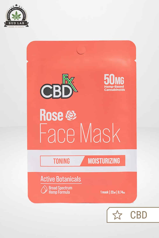 CBDfx CBD Face Mask Rose 50mg