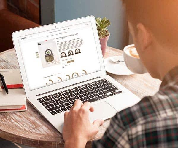 Man Ordering Bud Lab Grab Bags Online